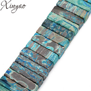 XINYAO 2018 5pcs lot Natural Agates Stone Beads Square Shape Spacer Bulk Beads For DIY Bracelet Jewelry Making 9x23mm 9X32mm