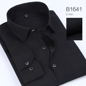 Spring Polka And Solid Man Casual Shirts Classic Men Dress Shirt Manga larga Ropa de moda de alta calidad para hombre Envío gratis