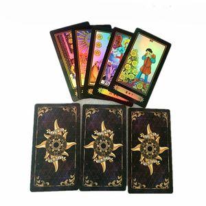 Holographic Tarot Board Game 78 PCS / Set تألق Waite بطاقات التارو