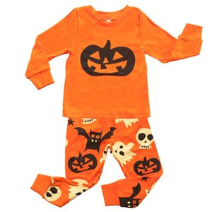 Baby Halloween Outfits Jungen Mädchen Kürbis LongBaby Halloween Outfits Jungen Mädchen Kürbis Happy Halloween Ghost Bat Kinder Home Kleidung Pyjamas