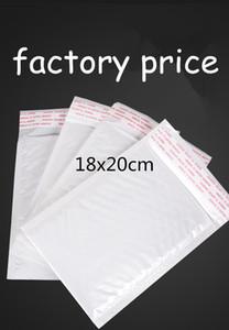 18x20cm 100 pz bianco Autoadesivo Bubble Mailers bolla bolla mailer bolla Busta Busta Borse postali Spedizione Drop shipping personalizzato
