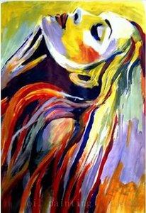 Ручной работы стены искусства декора современный абстрактный портрет холст фотографии ручная роспись сексуальная девушка Мастихин картина маслом