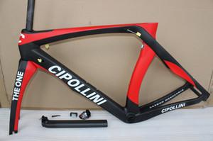 Rosso nero Cipollini RB1K ONE campione italiano telaio bici in carbonio tutto interno Deragliatore Cavo bici da strada telaio in carbonio cadre carbone route