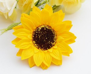 Girassol sabão flor girassol caixa de presente bouquet decorado com cabeça de flor de sabão L459