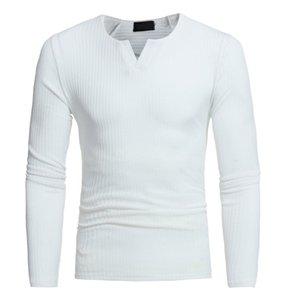 Herren Herbst Winter Casual V-Ausschnitt Herren Slim Pullover Tops 2018 Junge männliche Winter Herbst grundlegende Kleidung blusa masculina inverno