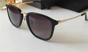 Роскошные 0323 солнцезащитные очки для мужчин мода дизайн 0232S квадратный летний стиль полный кадр высокое качество УФ-защита смешанный цвет поставляются с пакетом