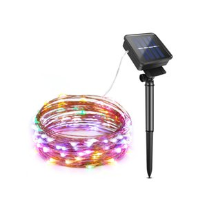 Colorful Solar lamp Fairy Light LED String 100 200leds 10m 20m Waterproof Copper Wire Outdoor Garlands Garden Christmas Decor
