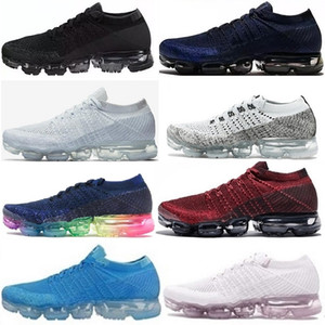 Nike vapormax air max 2018 V1.0Hotsale Rainbow Nuevas llegadas Hombres Mujeres Entrenadores Tenis Vapormax Kpu Mens Sport Authentic Sneakers Running Shoes Tamaño US5.5-11
