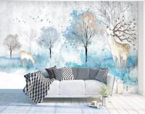 3D обустройство дома лесной пейзаж 3d обои стены гостиной фото ТВ фон 3 D обои для стен