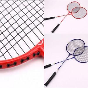 Acemi Severler Battledore Set Alaşım Badminton Racke Çift Raketler Yetişkin Fitness Eğitim Raket Anti-Sıcak Giymek Sıcak Satış 20bb dZ