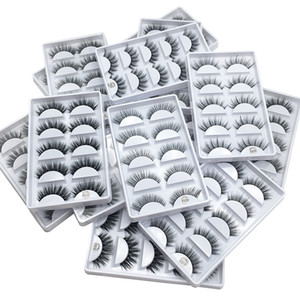 5 pares / set 3d cílios vison cílios vison maquiagem dos olhos naturais grossos cílios postiços compõem extensão dos cílios cílios postiços 5 estilos
