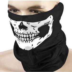 2020 nueva cara media máscara del cráneo bufanda Festival de horror Máscara del partido Scary Festival de suministros máscara