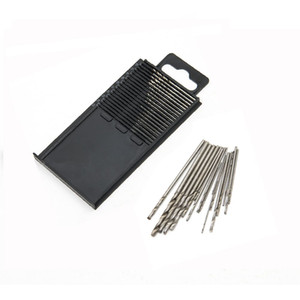 20Pcs Mini HSS Micro High Speed ​​Steel Twist Drill Set Modelo Craft con caja de reparación de piezas 0.3mm-1.6mm