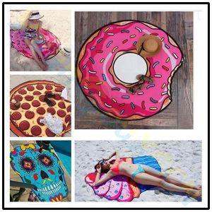 women bikini Beach donut Pizza Bohemia cover up swimsuit cover UPS pareos beach mats summer beach swimsuit