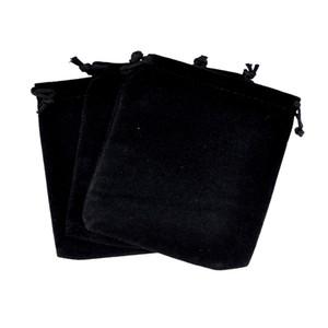 10 unids Grandes 15 * 20 cm Joyería de Terciopelo Negro Regalo Móvil Bolsas de Energía de Almacenamiento de Bolsas de Empaquebles Bolsa Puede Logotipo Personalizado