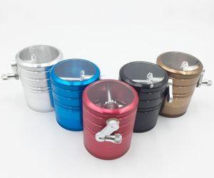 Side Rocker Smoke Raucher, große Aluminium-Legierung Mühle, vier-Schicht-Rauch-Cutter, Metall-Raucher-Set.