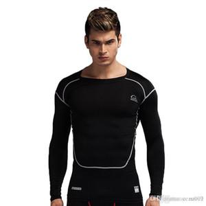 Yeni PRO erkek spor tayt uzun kollu streç çabuk kuruyan vücut sağlığı nefes terleme koç eğitim elbiseleri