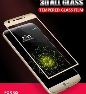 Per LG G5 V30 V35 G7 Thin Q V40 V50 G8 3D 0,2 MM Schermo intero Vetro temperato curvo