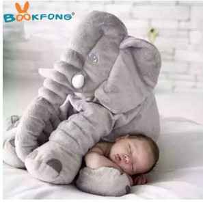 BOOKFONG 40/60 cm Infantiles de felpa Elefante suave Apaciguar Elefante Playmate Calm Doll Bebé de juguete Elefante Almohada Peluches de peluche Muñeca rellena