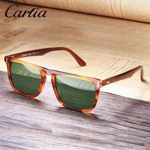 Carfia Herren Sonnenbrille Polarisierte Gläser Vintage Sonnenbrille 100% UV-Schutz 5357 Square 50mm 4 Farben mit Etui