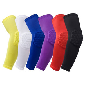 Leica honeycomb elbow lengthening and anti-collision high elastic basketball protective arm professional sports protective equipment T4H0112