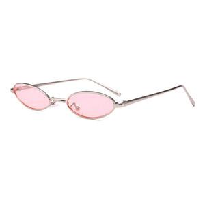 2018 neue Sommer Trendy DesignSonnenbrillen Frauen Männer Kleine Oval Mode Unisex Metallrahmen UV Schutzbrille Gläser culos de