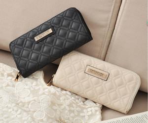 Venta caliente de la manera KK cartera de diseño largo de las mujeres de cuero de la PU Kardashian Kollection bolso de embrague de alto grado con cremallera monedero bolso