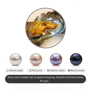 2018 Akoya Pearl Oyster Round 6-8mm Colores de agua dulce natural Cultivado en Fresh Oyster Pearl Mejillón Farm Supply wholesale PP0029