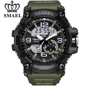 SMAEL Brand Men's Sport Watche LED Digital Display doble impermeable Casual Male Clock Relogios Masculino Men's Gift Relojes de pulsera