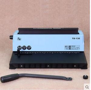 A4 آلة تجليد سلك TD-130 آلة صغيرة آلة تجليد الكتب سعة كبيرة