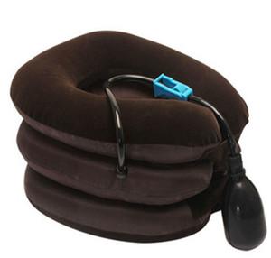 Nueva almohada inflable Cuello espalda hombro alivio del dolor masajeador tracción cervical Dispositivo de refuerzo suave cuidado del cuello masaje relajación