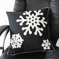 DHL 45X45 cm Snowflake Pillow Case Christmas Printed Pillow Case Throw Pillow Cover Home Car nx Decor Cushion Cover decorative Pillowcase