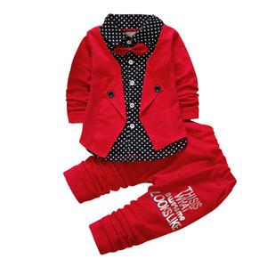 OLEKID 2018 весна лето Baby Boy Clothing Set ложные 2шт наряд+ брюки детские мальчики одежда набор мода Baby Boys 2шт костюм