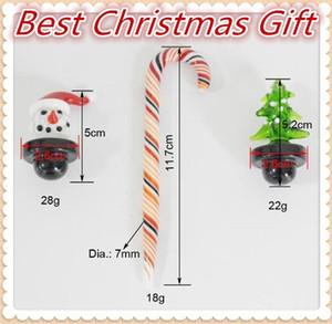 Cadeau de noël Carb Caps Bonhomme de neige Arbre de Noël Verre Carb Cap Candy Cane Dabber Outil Coloré Bubble aps Dôme pour Quartz Banger 1set = 3pcs