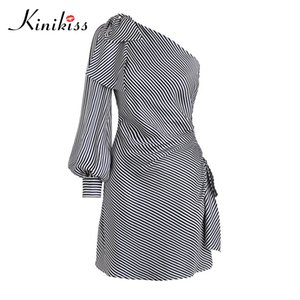 Kinikiss 2018 primavera donna bodycon dress asimmetrico backless lace-up party summer dress moda sexy bowknot beach girl