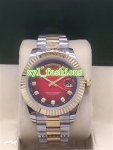 Reloj boutique de lujo para hombres de la moda superior Automático Reloj deportivo deportivo Acero inoxidable bi-oro Relojes comerciales impermeables