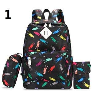 Sac à dos Schoolbag Voyage Sac à dos Tissu de mode de loisirs à rayures Canva + Oxford Sacs extérieurs Sacs en tissu Knapsack haute capacité A34 LTFLP