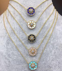 Il nuovo arrivo S925 Sterling Silver e collana pendente di marca con il diamante e la natura di pietra per nome le donne matrimonio regalo di monili di marca Fr