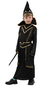 Shanghai Story Boys Halloween Magician Costumes Kids Children Magic Cosplay Carnival Purim stage play Masquerade party dress