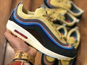 Nike Air Max 97 VF SW Avec Box 2018 sean wotherspoon x 97 VF SW chaussures de course hybrides pour hommes, femmes Authentic Quality 1 97 South Beach 3M Sports Sneakers