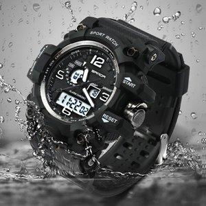 2018 novo hot SANDA dos homens esportes militares relógio dos homens da moda top famosa marca digital LED relógio digital Relogio masculino