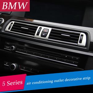 Acondicionamiento de aire del coche Etiqueta de salida del marco de ventilación Panel de instrumentos Anillo de decoración de salida de aire guarnición de la cubierta para BMW Serie 5 F10 F18 2011-2017