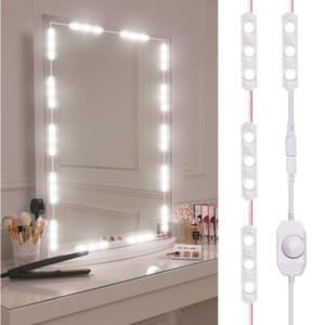 Viugreum Make-up-Spiegel-Leuchten Dimmbare LED 60Leds Vanity Licht Kits 10FT 1200LM Daylight Weiß 6000K Wasserdichte DIY Modul beleuchtet mit Switc