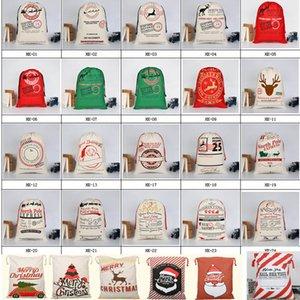 Tuval İpli Çanta Noel Çanta Cadılar Bayramı Santa Çuval hediyeler Çanta Noel Baba Geyik Süsleme Noel Süsleri Hediye çanta HH7-1291