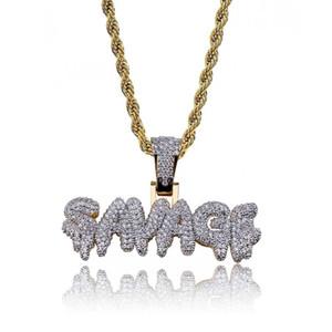 2018 fai da te hip hop nome personalizzato combinazione lettera bolla pendente collana micro zircone oro argento colore collana pendente in rame