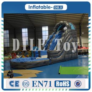 Glissière d'eau gonflable de expédition libre avec le jeu de piscine pour les enfants 0.55mm glissière gonflable commerciale de PVC à vendre