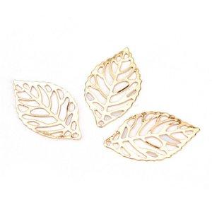 50pcs foglie filigrana metallo artigianato gioielli fai da te accessori ciondolo cinese costume sposa coronet foglie di metallo