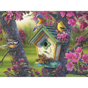 diamond painting painting canvas birds diy crafts Landscape diamond kits full cross stitch home decor Wall Art Painting gift free shipping
