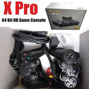 Console De Videogame Retro 64 Bits de Suporte Loja de Saída 4K Hdmi 800 Clássico Família Videogame Retro Game Console Para TV X PRO