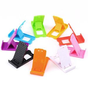 Großhandel New Bewegliche im Taschenformat Adjustable zusammenklappbare Plastikhandyhalter-Standplatz Portable für Smartphone Tablet PC